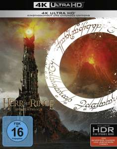 Lord of the Rings:Trilogy 4K Theatrical and extended [Region Free] £45.86/Hobbit £45.86 (UK Mainland) Sold by Amazon EU @ Amazon