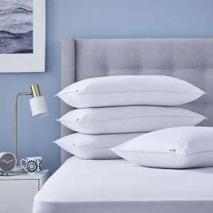 Silentnight Superwash microfibre medium firm pillows – 4 Pack for £16.19 delivered @ Sleepy People