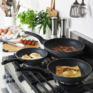 Pro cook UltraNon-StickGranite 3 Piece Frying Pan Set -25 years guarantee - £69(£62.10 with code) @ ProCook