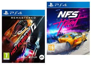 NFS Heat (PS4) - £13.16 or Need For Speed: Hot Pursuit Remastered (PS4) £14.20 delivered (+£2.99 Non Prime) @ Amazon