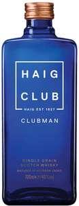 Haig Club Clubman Single Grain Scotch Whisky, 70 cl - £10.73 (+£4.49 Non Prime) @ Amazon