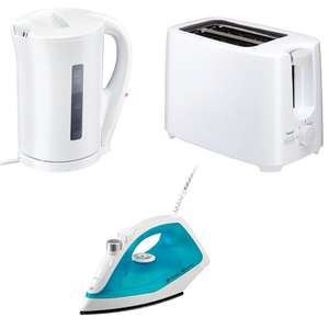 Essential Bundle Deal - Steam Iron + Kettle + Toaster all £17 Delivered @ Currys