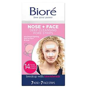 Biore Deep Cleansing Nose Strips and Face Pore Strips Combo, Pack of 14 (7 nose + 7 face) £7.02 (+£4.49 nonPrime) at Amazon