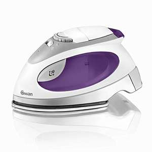 Swan SI3070N Compact Fast Heat up Steam Travel Iron with Pouch and Beaker + 2 year guarantee - £7.81 (+£4.49 non prime) @ Amazon