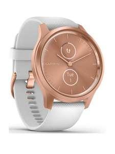 Garmin Vivomove Style Hybrid Smartwatch Rose Gold - White Silicone Strap £159.99 (Free Collection) @ Very