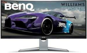 BenQ EX3501R 35 Inch Ultrawide UWQHD (3440 x 1440) VA 100Hz HDR Curved 1800R, FreeSync, USB-C - £358.60 @ Amazon