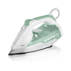 Swan SI30130N Non Stick Stainless Steel Soleplate Steam Iron, Self Cleaning Function, 2200W, Green - £6.25 (+£4.49 Non Prime) @ Amazon