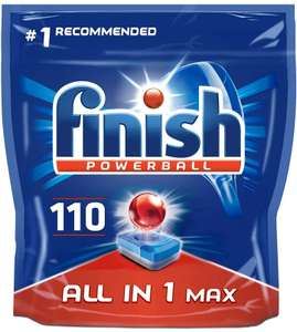 Finish Powerball 110 Dishwasher Tablets £13 / £10.40 on Subscribe & Save (+£4.49 Non Prime) @ Amazon