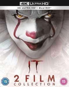 IT 2-Film Collection [2017 & 2019] [4K Ultra HD] [2017] [Blu-ray] [Region Free] £19.65 (£2.99 p&p non prime) @ Amazon