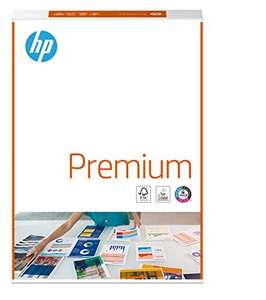 HP Printer Paper, Premium A4 Paper, 210x297mm, 80gsm, 1 Ream, 500 Sheets - £3.90 Prime / +£4.49 non Prime @ Amazon