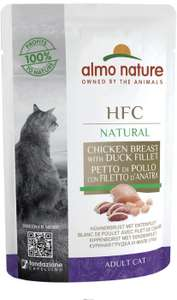Almo Nature HFC Raw Pack Wet Cat Food Pouch - Chicken Breast & Duck Fillet (Pack of 24 x55g) - £3.65 (+£4.49 Non-Prime) @ Amazon