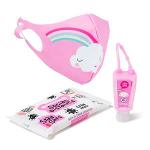Stay Safe Pack (Pink / Blue) includes face mask, hand cleanser & wipes - £2 instore / £3.99 Del / c&c free on £15 spend @ The Entertainer