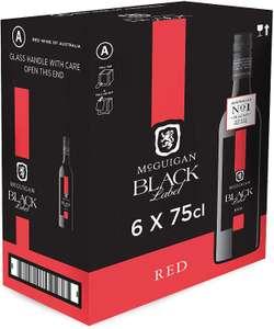 McGuigan Black Label Red, 75 cl (Case of 6) £29.16 using voucher @ Amazon