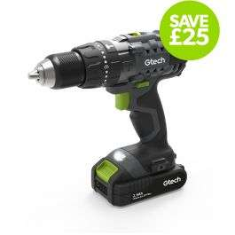 Gtech 20V cordless combi drill with 2.5Ah battery and charger for £103.97 delivered