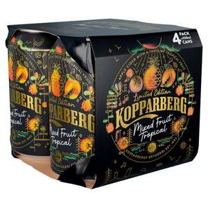 Free £10 Uber Eats voucher when you buy 2x4 packs of Kopparberg cider cans 330ml for £9 @ Asda
