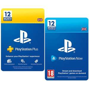 PlayStation Plus / PlayStation Now - 12 Months Subscriptions (UK) - £32.85 each @ Shopto