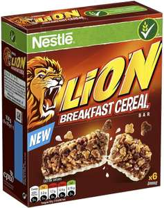 Nestle Lion Cereal Bars, 6 x 25g Pack of 8 £5.61 (£4.49 p&p non prime) @ Amazon
