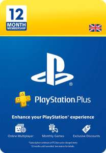 PlayStation Plus: 12 Month Membership (UK) - £32.85 @ Amazon