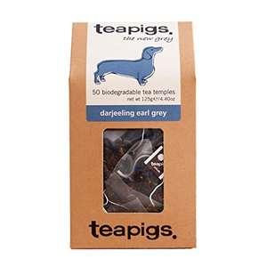 Teapigs Darjeeling Earl Grey Tea Bags (50 Bag Pack) - £5.43 Prime / +£4.49 non Prime @ Amazon