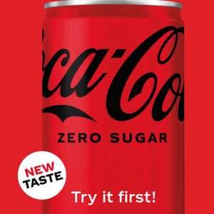 FREE Coca-Cola Zero Sugar sample cans - via Amazon Alexa or Google Assistant @ Send Me a Sample