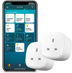 2 Pack of Meross WiFi Smart Sockets - Apple HomeKit Compatible (+ Alexa & Google Home) £19.99 with code - Sold by Meross Home EU / Amazon