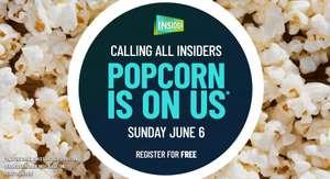 Free Small Popcorn Sunday June 6 with Showcase Cinema Insider Card