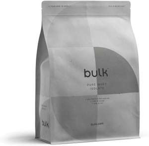 Bulk Pure Whey Protein Isolate 1KG Chocolate £10.38 Prime / (+£4.49 Delivery Non Prime) + Poss 30% Off with 1st Subscribe & Save @ Amazon