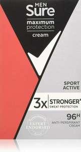 Sure men maximum protection cream 45ml £1.25 @ Boots Chester