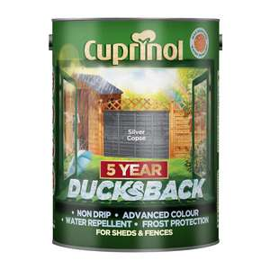 Cuprinol Ducksback 5L Silver Copse - £10.94 + Free Click & Collect in Limted Stores @ Jewson