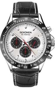SEKONDA Sport Watch 1647 Silver On Black - £19.51 + £4.49 Non Prime @ Amazon