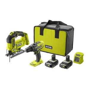 18V ONE+™ Cordless Combi Drill & Jigsaw Starter Kit (2 x 2.0Ah) - £149.99 @ Ryobi UK