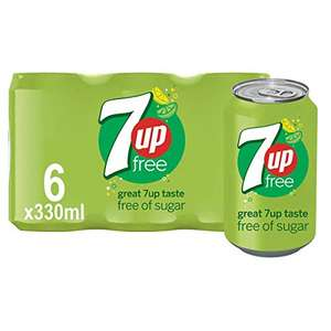 7UP Free - Lemon & Lime Flavoured Fizzy Drink - Sugar-Free - 6 x 330 ml cans - £1.86 prime + £4.49 Non Prime @ Amazon