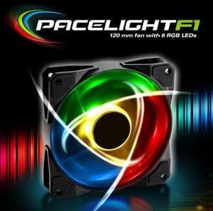 Sharkoon Pacelight F1 120mm RGB LED Fan £3.85 (+£4.49 Non Prime) @ Amazon