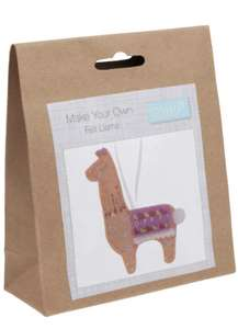 Trimits Felt Decoration Kit: Llama, Assorted, One Size £1.56 Prime at Amazon (+£3.99 non Prime)