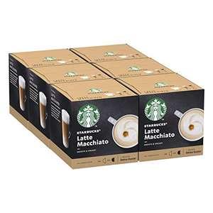 Starbucks Latte Macchiato by Nescafe Dolce Gusto Coffee Pods (Pack of 6, Total 72 Capsules, 36 Servings) £14.19 (+£4.49 Non Prime) @ Amazon