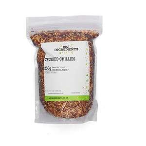 JustIngredients Chillies Crushed 1 kg - £5.95 Prime (+£4.49 non-prime) @ Amazon