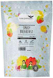Tea People Smoky Breakfast, Premium Black and Oolong Tea blend, 50 Pyramid Bags Refill Pack - £3.87 (+£4.49 Non-Prime) @ Amazon