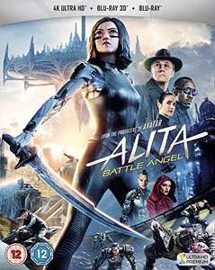 Alita: Battle Angel - 4K Ultra HD (Includes 3D and 2D Blu-ray), £11.99 (+£2.99 Non-Prime) Delivered @ Amazon