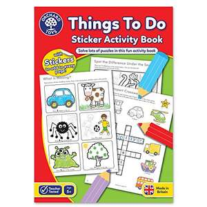 Orchard Toys Things To Do Sticker Colouring Book £1.11 (Prime) + 99p (non Prime) at Amazon