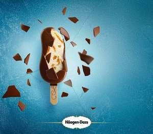Haagen-Dazs 3 x 80ml Ice Cream Sticks Salted Caramel/Mango & Raspberry/ Peanut Butter Crunch are £2 Clubcard Price @ Tesco