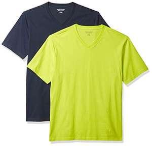 Amazon Essentials 2-Pack Regular-fit V-Neck T-Shirt (Small) - £3.95 (+£4.49 Non Prime) @ Amazon
