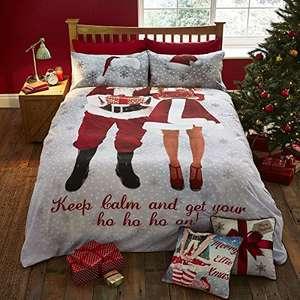 Catherine Lansfield Selfie Santa Double bedding - £6.56 (+£4.49 Non-Prime) @ Amazon