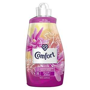 Comfort Honeysuckle & Sandalwood All-Day Odour Defence Fabric Conditioner 55 Wash 1.925L (Pack of 4) £19.42 (+£4.49 nonPrime) at Amazon