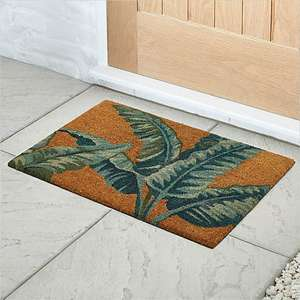 Banana Leaf Doormat - free click and collect @ Dunelm