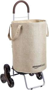 Amazon Basics Stair Climber Rolling Laundry Hamper Converts into Dolly 96.5 cm Handle Height Beige - £17.64 (+£4.49 non Prime @ Amazon)