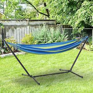 Outsunny 277 x 121cm Hammock with Metal Stand & Carrying Bag £44.79 with voucher From Outsunny/ eBay (UK Mainland)