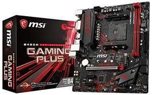 MSI B450M GAMING PLUS Motherboard mATX AM4, DDR4 LAN USB 3.1 Gen2 M.2 HDMI DVI-D AMD RYZEN 1st, 2nd, 3rd Gen £53.93 OOS at Present @ Amazon