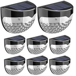 Solar LED Waterproof Solar Lights Wireless Outdoor Lights (8 Pack) £18.59 (+£4.49 NP) @ Sold by MLBecommerce and Fulfilled by Amazon.