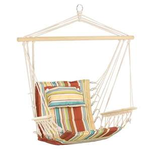 Outsunny Garden Hammock Chair Safe Wide Seat Thick Rope with Pillow for £20.69 delivered using code @ Aosom