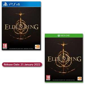 Pre-order Elden Ring [21st January 2022] £37.16 Playsation 4 / Xbox One £38.09 Delivered Using Code [Includes Next Gen Updates] @ Gamebyte